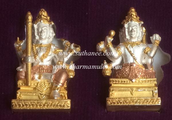 รูปหล่อท้าวมหาพรหมธาดารุ่นแรก เนื้อทองแดงชุบ 3 กษัตริย์ {ราคา..ลดพิเศษ !!}