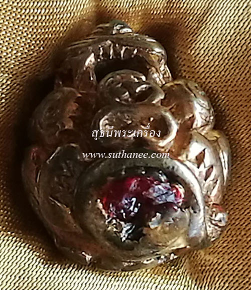 ลูกอมพญาเสือ เนื้อนวะพรายทองคำ (ตะกรุดทองคำ) [หมายเลขพิเศษ ๔๑ (41)] {ราคา..ลดกระหน่ำ!!} 2