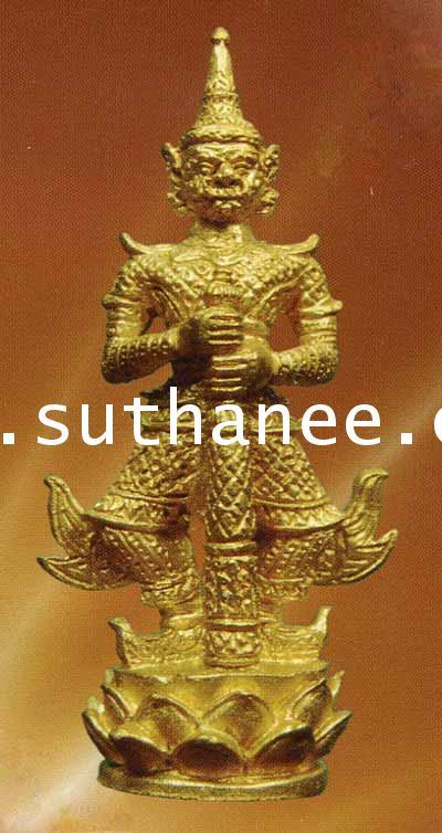ท้าวเวสสุวรรณจ้าวขุมทรัพย์ขนาดมาตรฐานเนื้อทองทิพย์