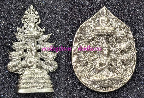 พระกริ่ง+เหรียญหล่อ จินต์ตระการเนื้อ Natural White Bronze [หมายเลข ๒๕ (25)] {ราคา..ลดกระหน่ำ !!}