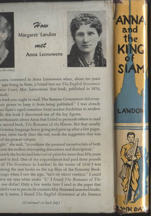 ANNA  THE KING OF SIAM-1944 1st Edition 1