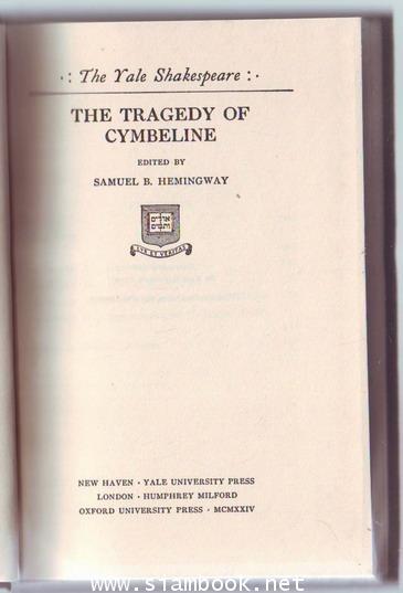 The Yale Shakespeare: The Tragedy of Cymbeline 1