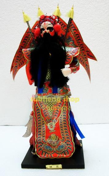 ตุ๊กตางิ้วขุนพลอุยเอี๋ยน ในสามก๊ก ทำจากผ้าไหม (Wei Yan)