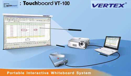 nteractive whiteboard system : Vertex -VT-100