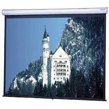 Model C Square Format Manual Wall and Ceiling Screen, 6x8
