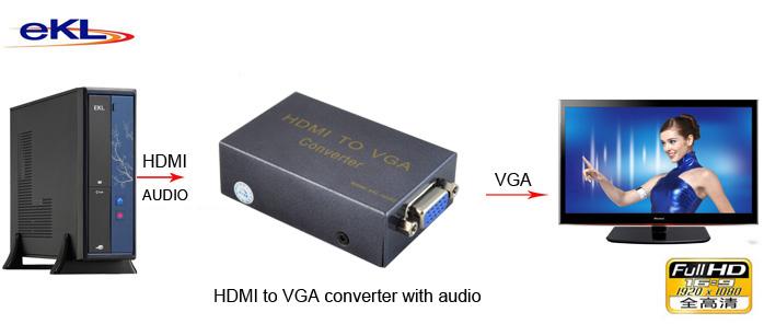 HDMI to VGA converter with audio (eKL-HV02)