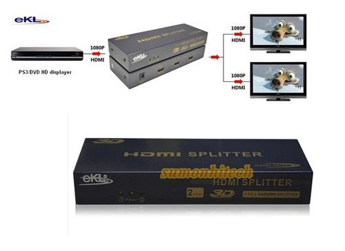 HDMI SPLITTER  EKL HS102 Mini 1