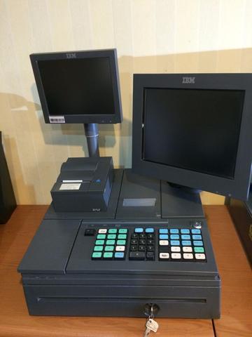 ชุดคิดเงิน IBM แบบสองหน้าจอ