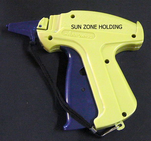 ปืนยิงป้ายเสื้อใช้กับกระสุนพลาสติก