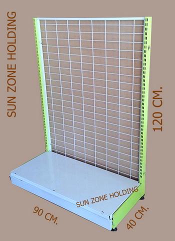 ชั้น Stand สำหรับแขวนโชว์สินค้าแบบด้านเดียว 1 แผ่นฐาน Size   : 90 x 40 x 120 cm. รหัสสินค้า:000459