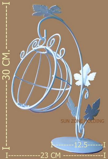 ชิงช้าครึ่งวงกลมลวดดัดสีขาว  สำหรับตกแต่ง หรือวางโชว์เครื่องประดับ
