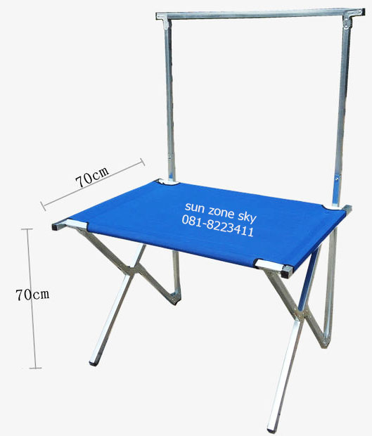 PROMOTION ราคา 790 บาทโต๊ะตลาดนัด/ราวแขวนโชว์ พับเก็บได้ รุ่นหน้าโต๊ะเป็นผ้าใบ  - ขนาดความยาว 1 เมตร
