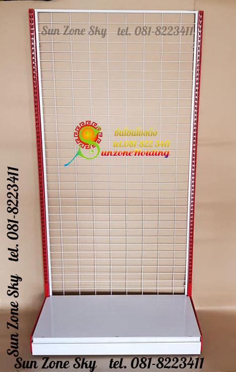 ชั้น Stand โชว์สินค้าแบบด้านเดียว 1 แผ่นฐาน90 x 40 x 180 cm. รหัสสินค้า:000282