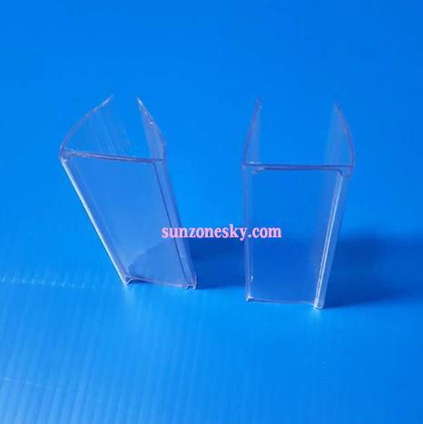 ป้ายพลาสติกใส่ราคาสำหรับชั้นไม้ เหล็ก ขนาด 2.5 x 8 cm. รหัสสินค้า:000708 2