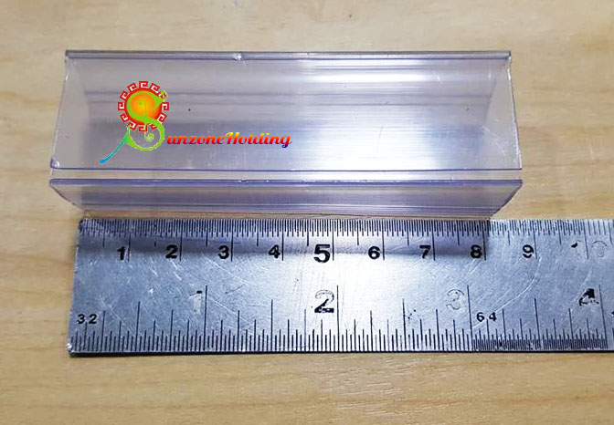 ป้ายพลาสติกใส่ราคาสำหรับชั้นไม้ เหล็ก ขนาด 2.5 x 8 cm. รหัสสินค้า:000708 4