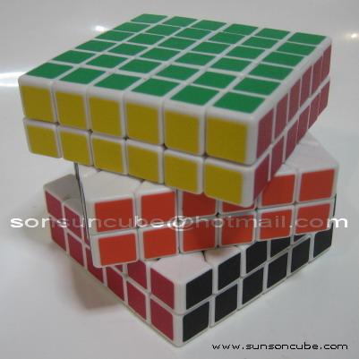 รูบิค 6x6x6 YJ - White