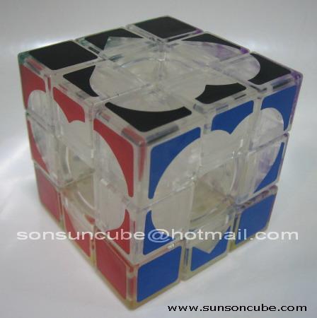 Transparent Void cube ( Heart Sticker )