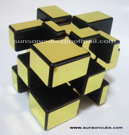 Mirror Block  Gold ( Black cube ) /  Ghost Hand