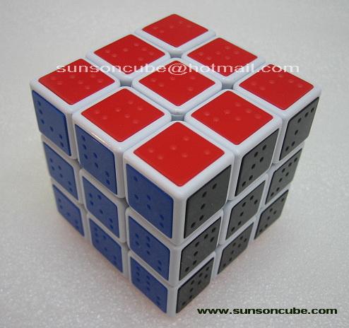 รูบิค  3x3x3 Tile ( Braille Sudoku ) C4U  - White