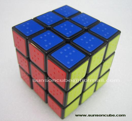 รูบิค  3x3x3 Tile ( Braille  Sudoku ) C4U  - Black