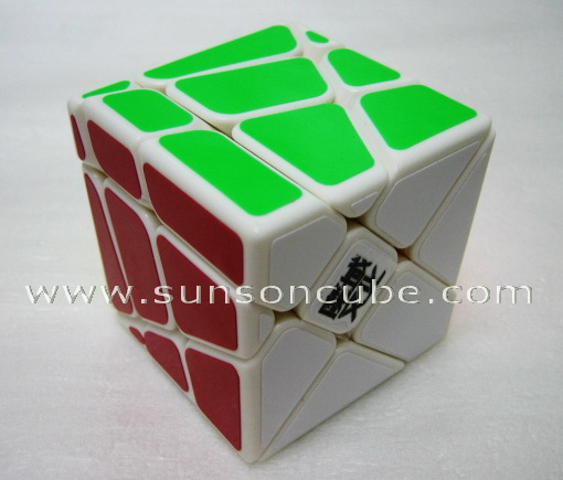 Moyu Crazy Fisher cube ( Yi Leng ) / White