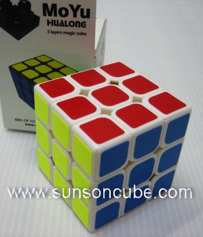 3x3x3 Moyu HuaLong - White