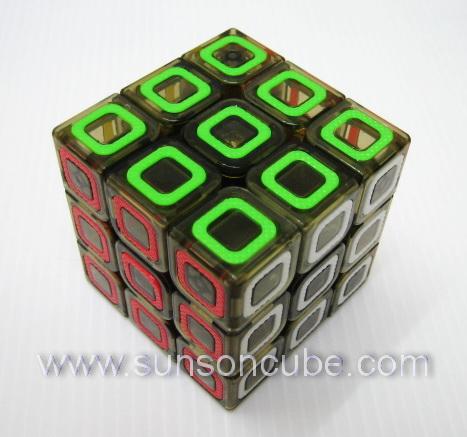 3x3x3 Qiyi ( Tile ) - Transparent Black