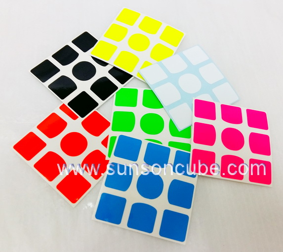 Sticker รูบิค 3x3x3  with  O - Center ( Z Bright )