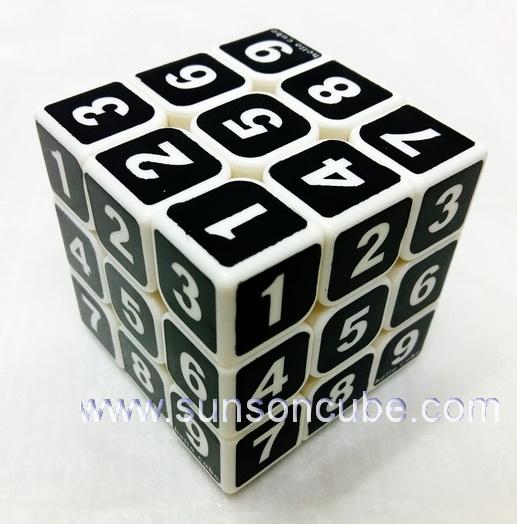 3x3x3 SudoKu  /  ฺBlack - White cube