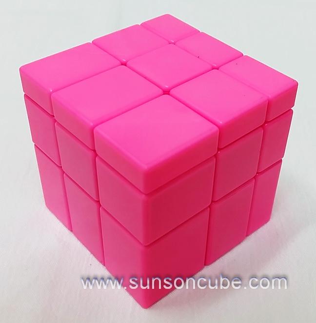 Mirror Block - monochrome Pink cube / Shengshou