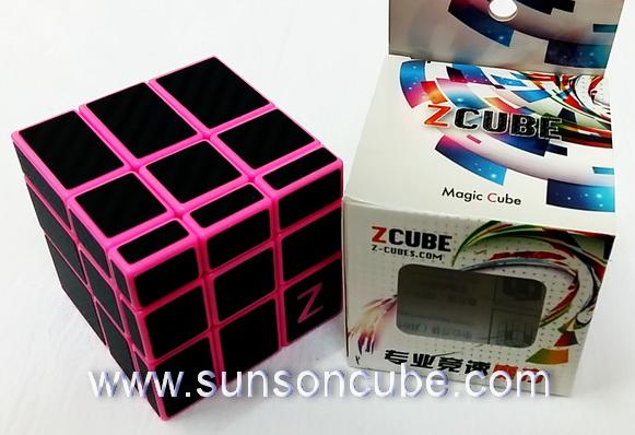 Mirror Block with carbon-fiber stikcer - ฺPink cube