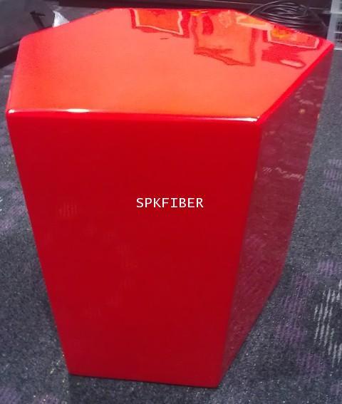 เก้าอี้ไฟเบอร์กลาส สีแดง