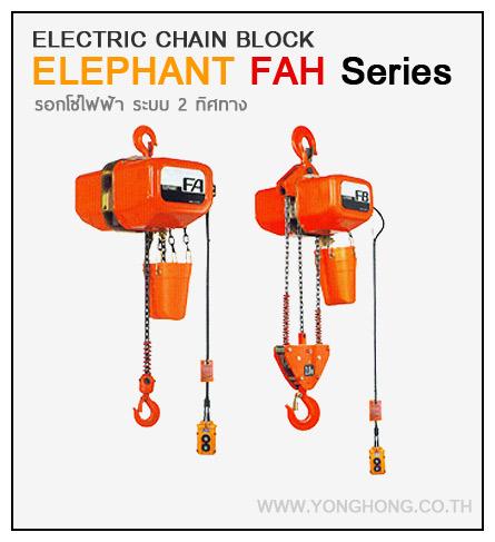 รอกโซ่ไฟฟ้าตราช้าง Elephant 2 ทิศทาง 3000 กิโลกรัม รุ่น FAH-3