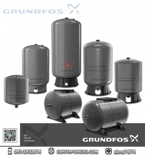 ถังแรงดันไดอะแฟรม Grundfos รุ่น GT-H-8