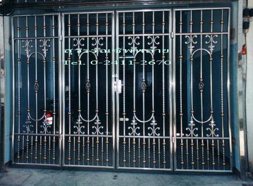 ประตูสเตนเลส บาน4พับ No.5