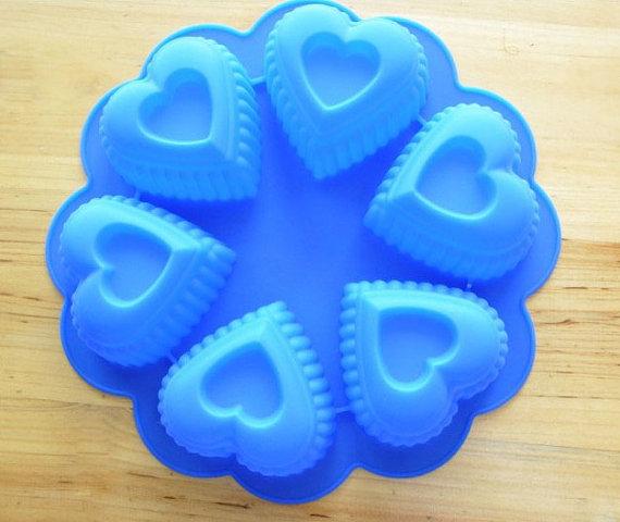 แม่พิมพ์รูปหัวใจ 6 ช่อง
