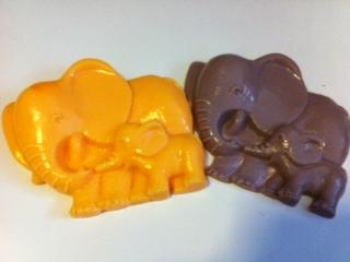 แม่พิมพ์ รูปช้างแม่ลูก 5 หลุม