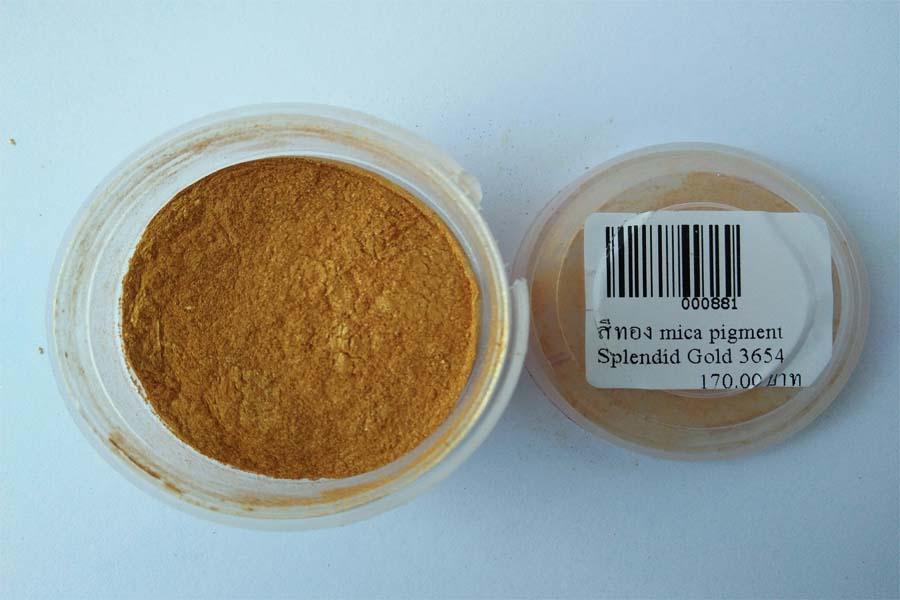 สีทอง mica pigment Splendid Gold 3654