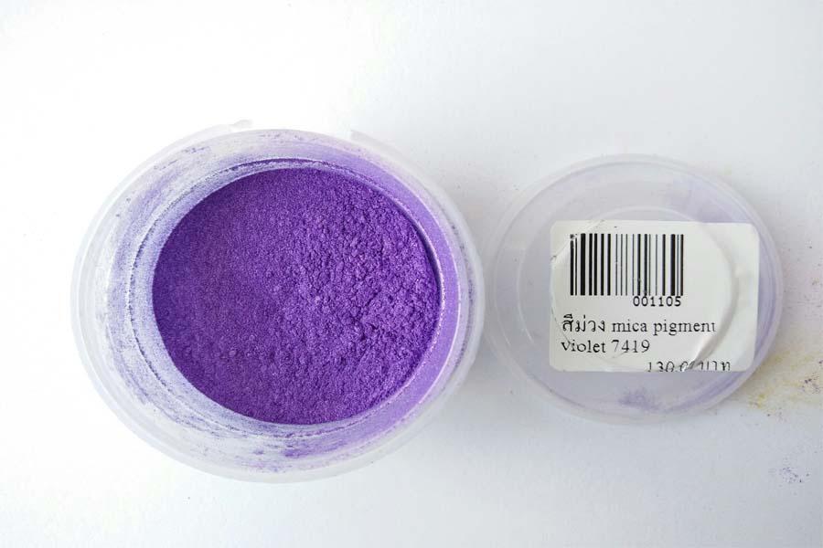 สีม่วง mica pigment violet 7419