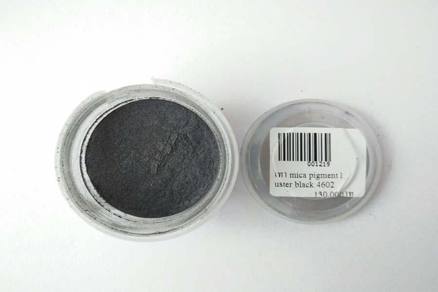 สีไมก้า สีเทา mica pigment luster black 4602