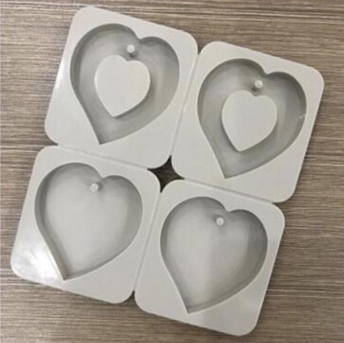 พิมพ์เจาะรู รูปหัวใจ 4 ช่อง