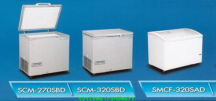 ตู้แช่แข็งแนวนอน กระจกบานเลื่อนเหลี่ยม SANDEN INTERCOOL รุ่น SNG-0233N (200 ลิตร) 2
