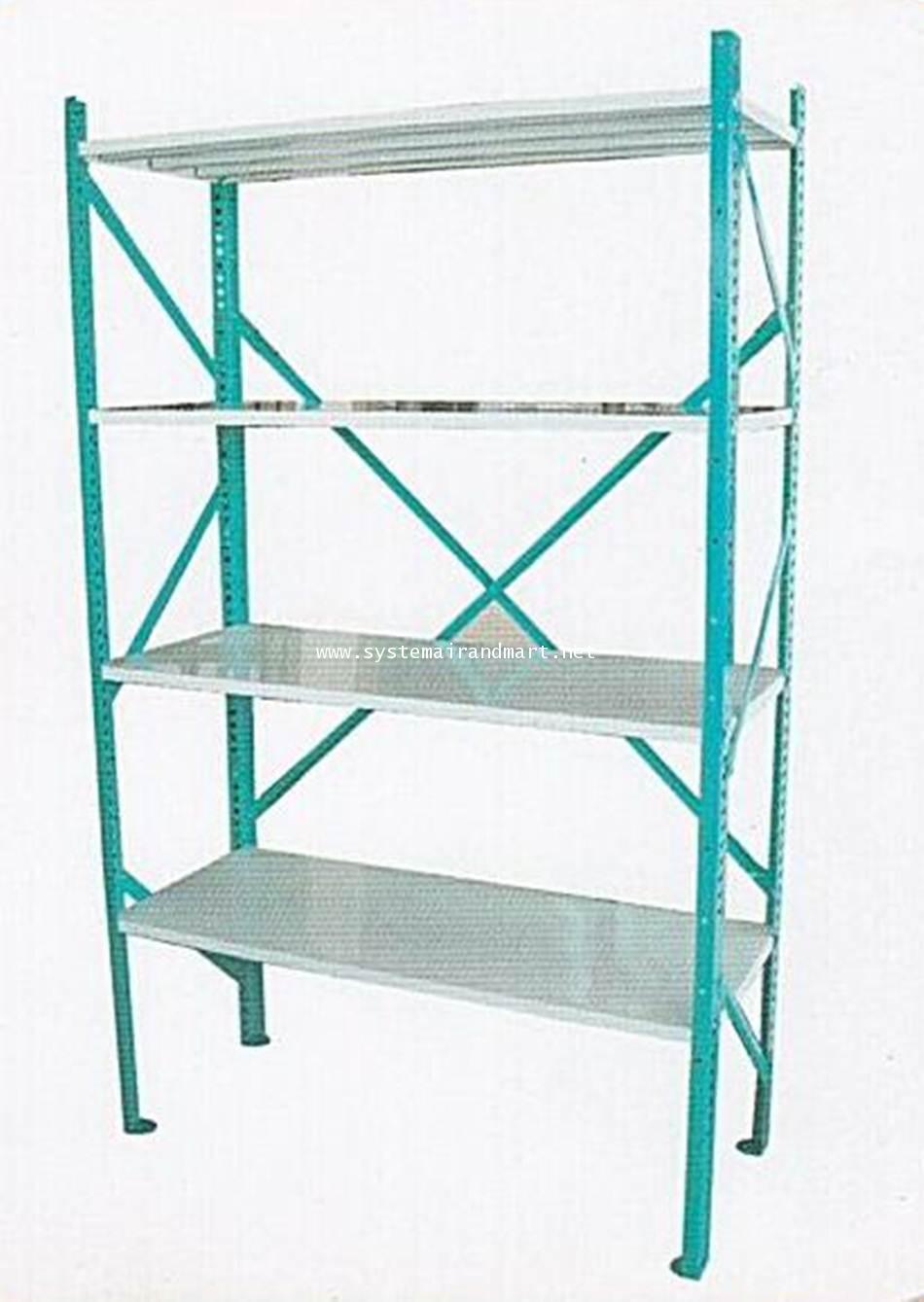 ชั้นแลคสตีล เซฟวิ่ง 4 ชั้น Rack Steel Shelving 120cm