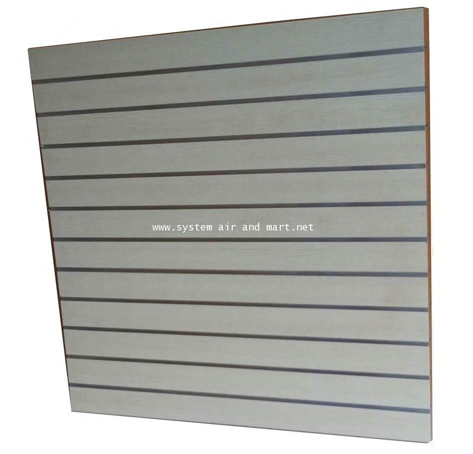 แผ่นไม้โชว์สินค้า Slat wall ชนิดมีร่องอลูมีเนียม 6