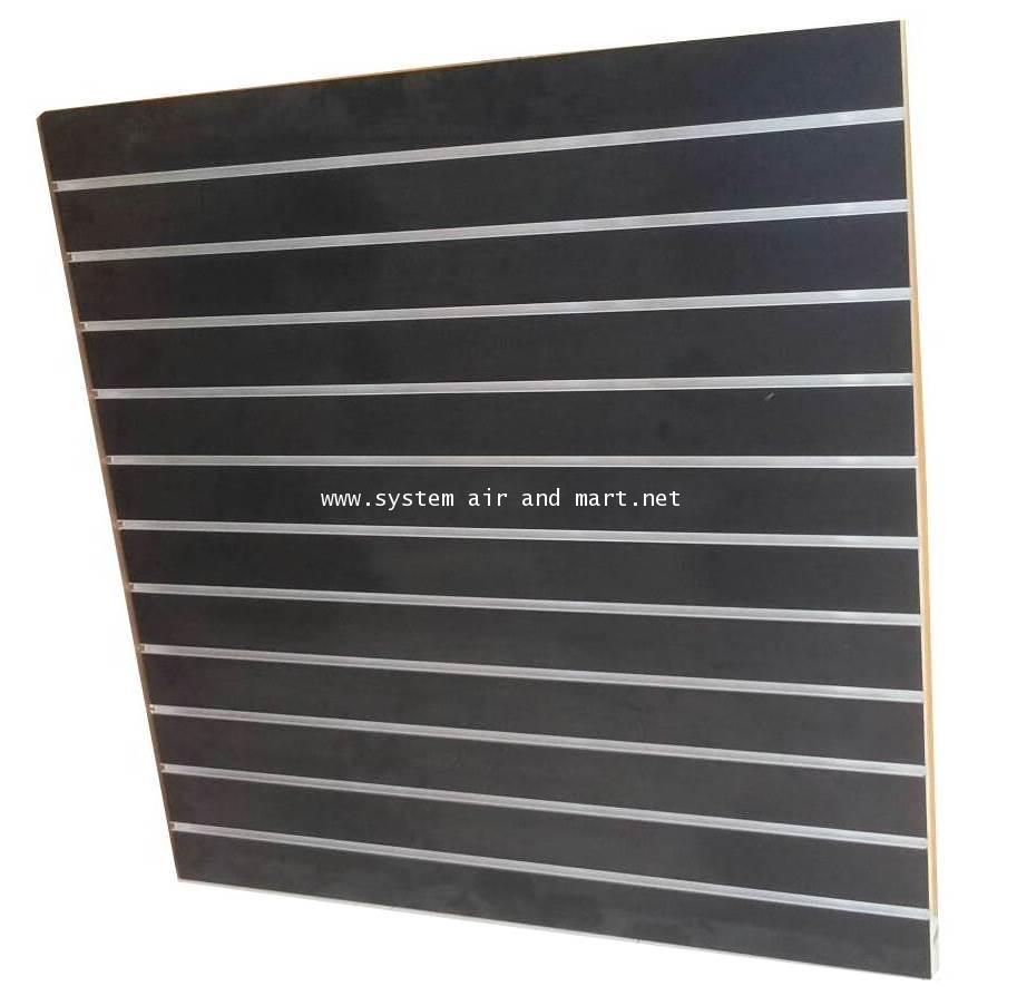 แผ่นไม้โชว์สินค้า Slat wall ชนิดมีร่องอลูมีเนียม 9