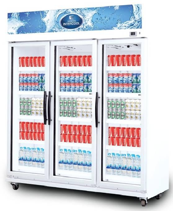 ตู้แช่เย็นกระจก 3 ประตู MPM-1203 SANDEN
