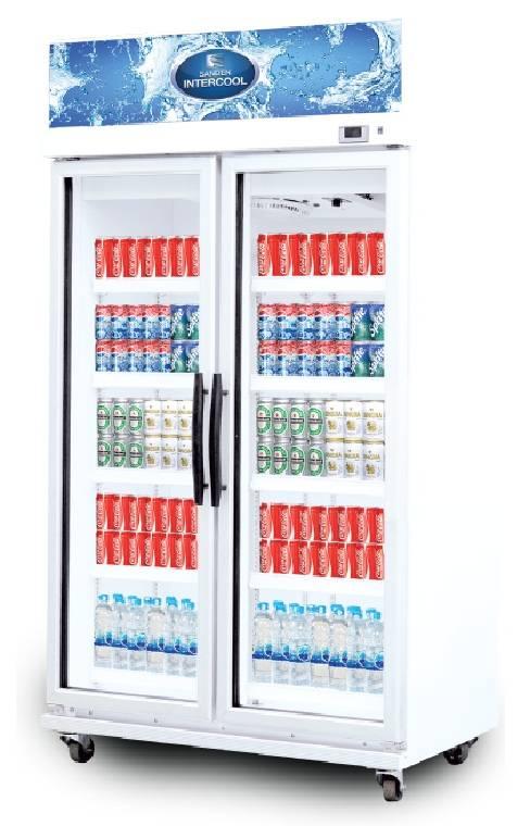 ตู้แช่เย็นกระจก 2 ประตู MPM-0753 SANDEN
