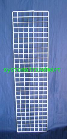 ตะแกรงชุบพลาสติก 27x102 ซม ดำ/ขาว 6