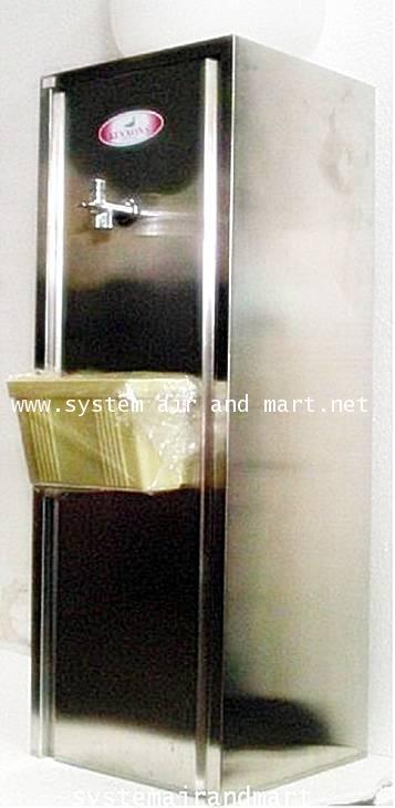 ตู้ทำน้ำเย็น1ก๊อกแบบขวดคว่ำแสตนเลส