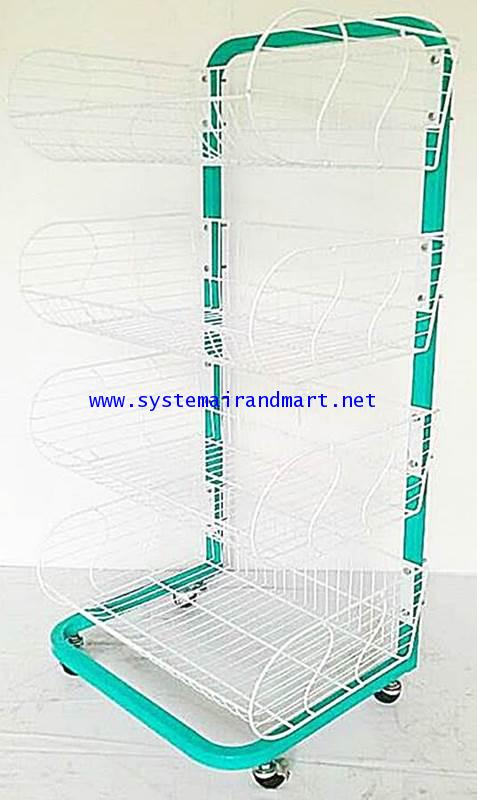 ชั้นตะกร้า 4 ชั้น รุ่นประหยัด (72 cm) ใส่ล้อ